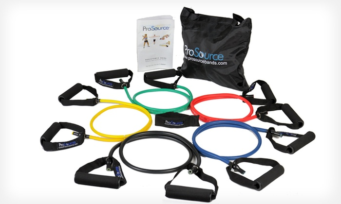 Set of Five ProSource Resistance Bands: $22.99 for a Set of Five ProSource Resistance Bands with a Door Anchor ($35.99 List Price). Free Shipping and Returns.