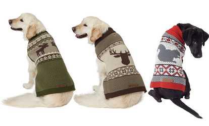 Topsung Dog Raincoat Waterproof Puppy Jacket Pet Rainwear Clothes... (2).   24.99  3.99 · Shop Groupon Eddie Bauer Woodland Fair Isle Sweater for Dogs cd7bd2561