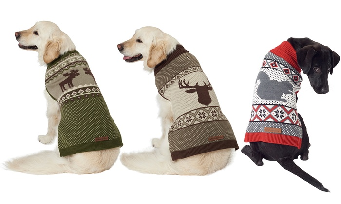 Up To 25 Off On Eddie Bauer Sweater For Dogs Groupon Goods