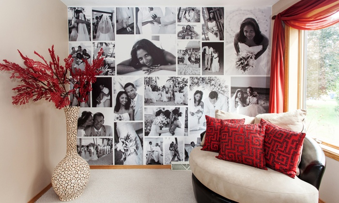 WeMontage: Custom Photo Removable Wallpaper from WeMontage (Up to 54% Off). Two Options Available.