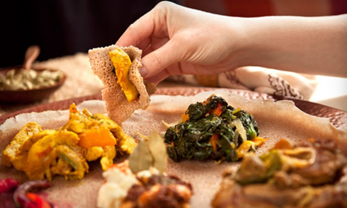 Ethiopia Restaurant - Berkeley: Ethiopian Meal for Two or Four at Ethiopia Restaurant in Berkley (Up to 57% Off)