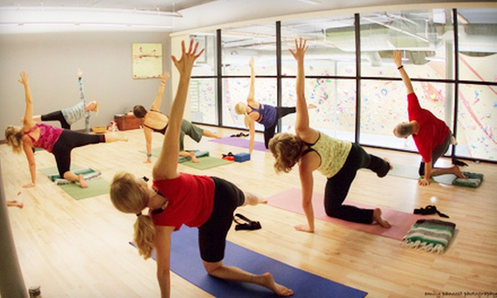 The Bloc climbing + fitness - Tucson: 10 or 20 Yoga or Pilates Classes at Rocks & Ropes (Up to 54% Off)