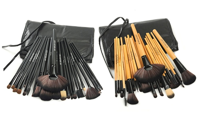 Makeup Brush Set with Vegan Leather Case (24-Piece)