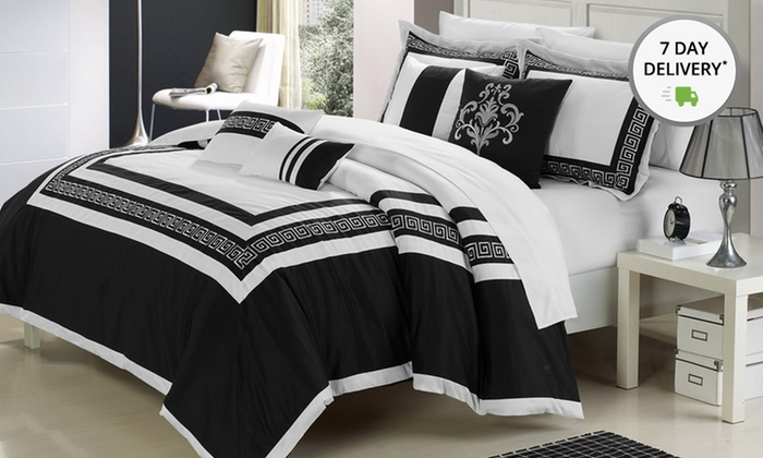 7-Piece Embroidered Comforter Sets: 7-Piece Embroidered Comforter Sets. Multiple Sizes. Free Returns.