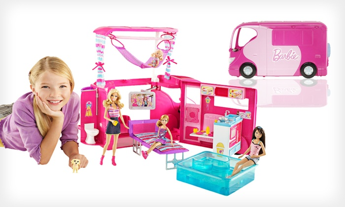 Mattel Barbie Sisters Go Camping! Camper: $49 for a Mattel Barbie Sisters Go Camping! Camper ($87.98 Total Value). Free Shipping and Free Returns.