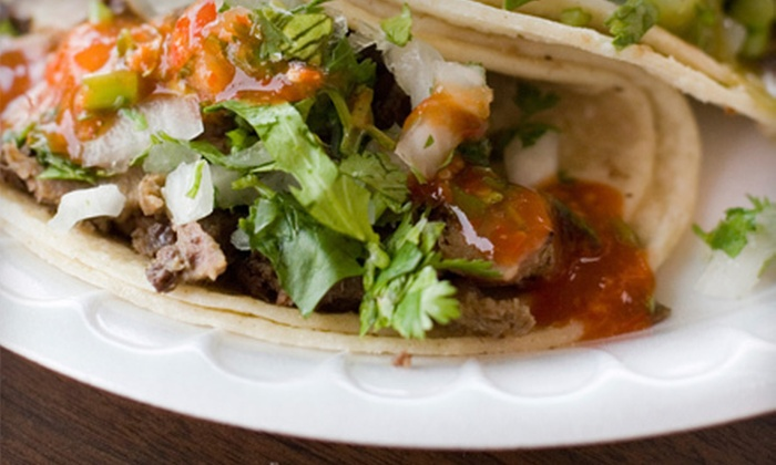 The Mexican Grill - Multiple Locations: Authentic Mexican Specialties and Drinks at The Mexican Grill (Up to 53% Off). Two Options Available.