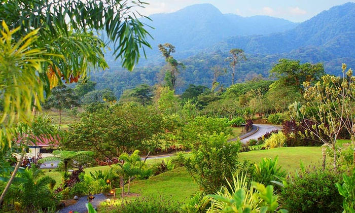 GreenLagoon Falls Park & Lodge - La Fortuna, Costa Rica: 3- or 4-Night Stay for Two with Optional Eco-Tour or Spa Visit at GreenLagoon Falls Park & Lodge in Costa Rica
