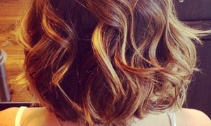 Think Pretty: Full highlights, Gloss, Haircut, and Blow Dry Finish from Think Pretty (42% Off)