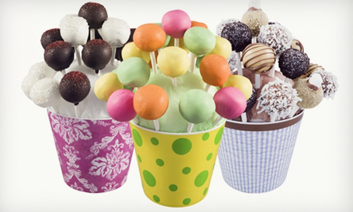 Cake Pop Creations: Box of One Dozen or Two Dozen Cake Pops or a Bouquet of Two Dozen Cake Pops from Cake Pop Creations (Up to 51% Off)