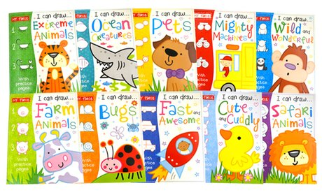 My First I Can Draw Book Set with Crayons (10-Pack)