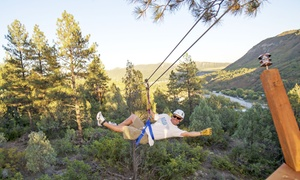 Full Blast Adventure Center: Two-Hour Ponderosa Zipline Tour for Two or Four from Full Blast Adventure Center (Up to 55% Off)