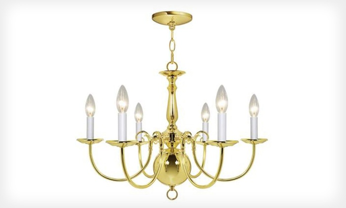 Hampton bay chandeliers groupon goods hampton bay chandeliers hampton bay 5 or 6 light chandelier with brass finish aloadofball Choice Image