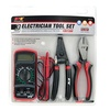 Electrician Tool Set - Multi-Meter, Wire Cutter/Stripper (3-Piece)