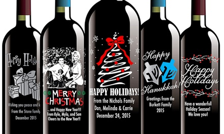 Custom Etched Wine Bottles Etching Expressions Groupon
