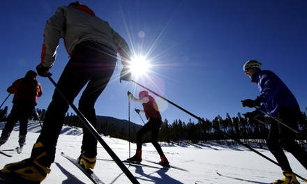 Nordic Trail Pass for Two or Beginner's Ski Lesson for One at Colorado Cross Country Ski Resorts (45% Off)