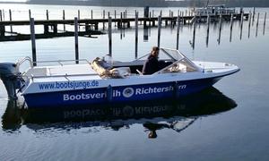 Bootsverleih Richtershorn: 3 oder 9 Stunden Verleih eines führerscheinfreien Motorbootes für bis zu 5 Personen ab 44,90 € (bis zu 50% sparen*)