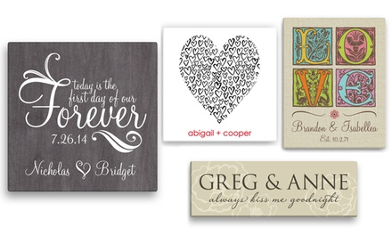 One or Two Personalized Canvases from Personalized Planet (Up to 50% Off)