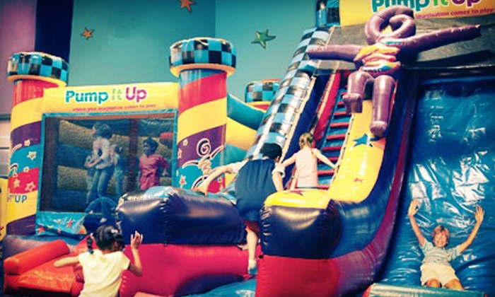 Pump It Up - Hartville: Three Open-Jump Visits, Five Regular or Themed Open-Jump Visits, or Weekday Party at Pump It Up (Up to 52% Off)