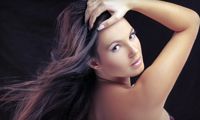 Axis Salon & Day Spa - North of Grand: Haircut with Color or Highlights, Keratin Treatment, or Mani-Pedi at Axis Salon & Day Spa (Up to 72% Off)