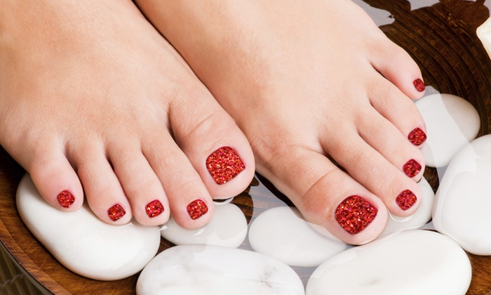 Smudges Nails + Skin Etc. - Mesa: $41 for a Twinkle Toes Nail Enhancement and Gel Manicure at Smudges Nails + Skin Etc. ($80 Value)
