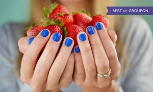 Iris Nails: Mani-Pedis at Iris Nails (Up to 45% Off). Three Options Available.