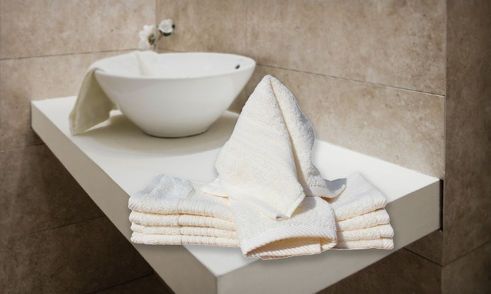 Spa Retreat Egyptian-Cotton Washcloths: $10 for a Six-Pack of Spa Retreat Egyptian-Cotton Washcloths in Ivory or White ($36 List Price). Free Returns.