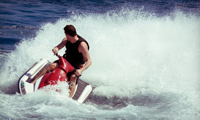 American Watersports Inc - Pompano Beach: 30- or 60-Minute Jet-Ski Rental with Access to Umbrella and Two Chairs from American Watersports Inc (Up to 57% Off)