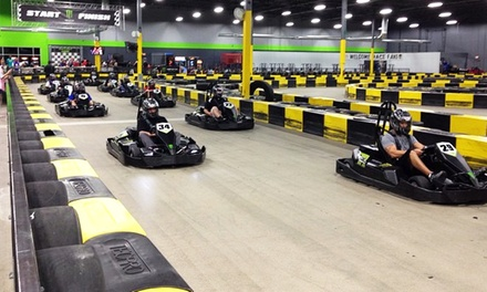 Three Go-Kart Races with License and Drink for One or Two at Formula Racing Center Houston (Up to 47% Off)