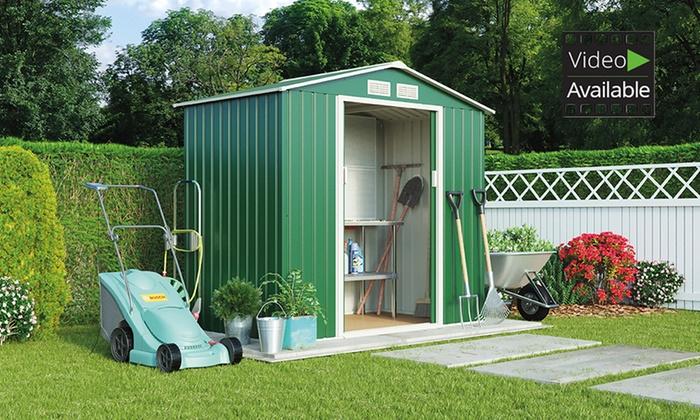 Apex or pent metal garden sheds groupon goods for Best deals on garden sheds