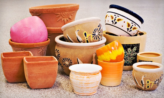 Sharri's Discount Art Supplies - Normal Station Neighborhood Association: Three-Hour Pottery-Painting Class for 1, 2, 6, or 12 at Sharri's Discount Art Supplies (Up to 65% Off)