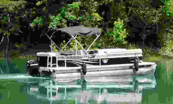 Beach Island Marina - Beach Island Marina: Full-Day Deluxe Pontoon Boat Rental with Option for Tube Rental at Beach Island Marina in Maynardville (Up to 53% Off)