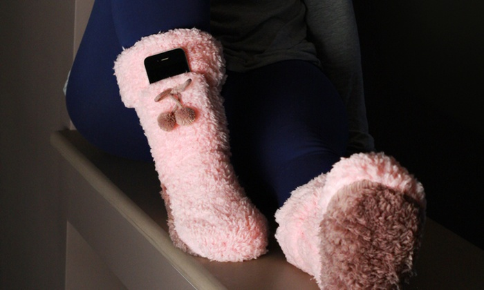 Women's Fluffy Socks with Pocket: Women's Fluffy Socks with Pocket. Multiple Colors Available. Free Returns.