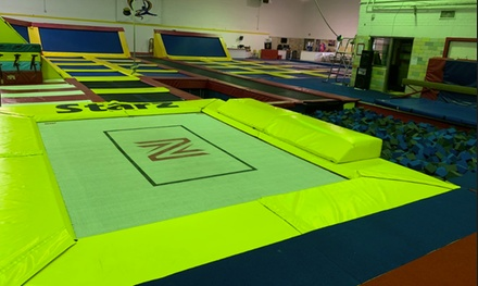 Jump Passes or Party at Starz Gymnastics and Trampoline Fun Center (Up to 44% Off). Four Options Available.