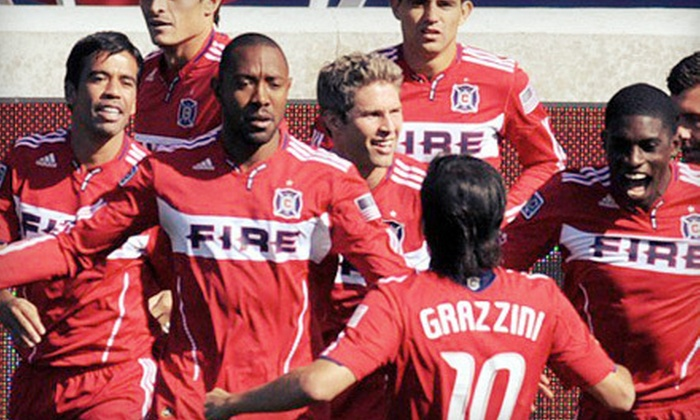 Chicago Fire - Multiple Locations: Ticket and Luxury Bus-Ride Package to See the Chicago Fire at Toyota Park on March 24 or April 28 at 7:30 p.m.