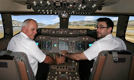 Jet Flight Simulator: 30 $69, 45 $99 or 60 Minutes $129 at 747 Flight Sensation, Malaga Up to $297 Value