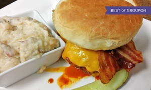 The TAP Restaurant + Brewery: Sunday Brunch Buffets with Mimosas or Beer and Apps for Two at The Tap Restaurant + Brewery (Up to 44% Off)
