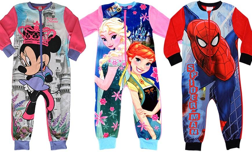 Pyjama Disney La Reine des Neiges 2 Filles Pyjamas Combinaison Tout en un Pjs Kids Elsa Anna Grenouill/ère