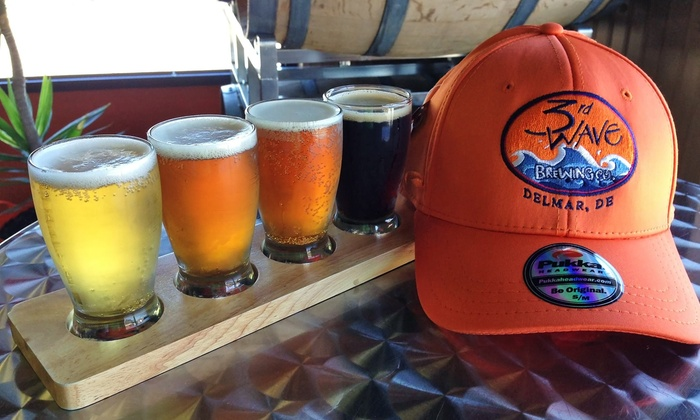 3rd Wave Brewing Co. - Delmar: Craft Beer Tasting and Take-Home Metal Tacker for Two at 3rd Wave Brewing Co. (Up to 53% Off)