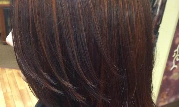 Saranda Salon - Westland: Haircut, Highlights, and Style from Saranda His & Hers Hair Salon (55% Off)