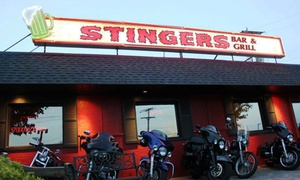 Stingers Bar & Grill: $13 for $20 Worth of Burgers, Bar Food, and Drinks at Stingers Bar & Grill