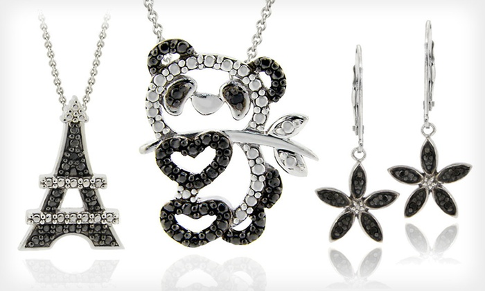 Black Diamond Accent Jewelry: Black Diamond Accent Jewelry (Up to 80% Off). Twenty-Six Options Available. Free Shipping.