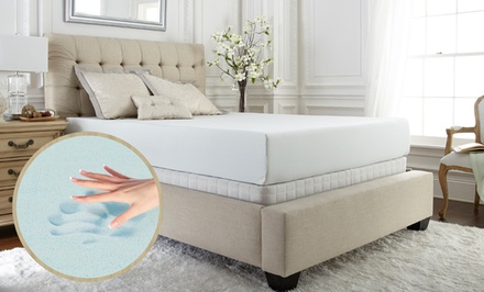 "groupon daily deal - PuraSleep XCEL Pure Foam Premium Gel 10"" Mattress. 20-Year Limited Warranty."