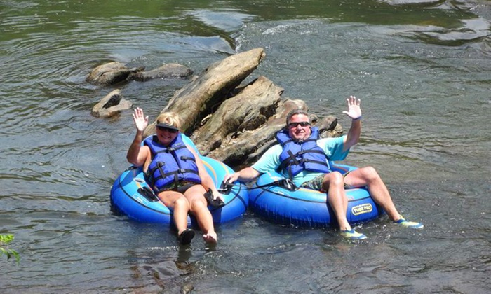 Saluda River Rafting Adventures - Easley East: Inner-Tube or Paddleboat Rental for Two at Saluda River Rafting Adventures (50% Off)