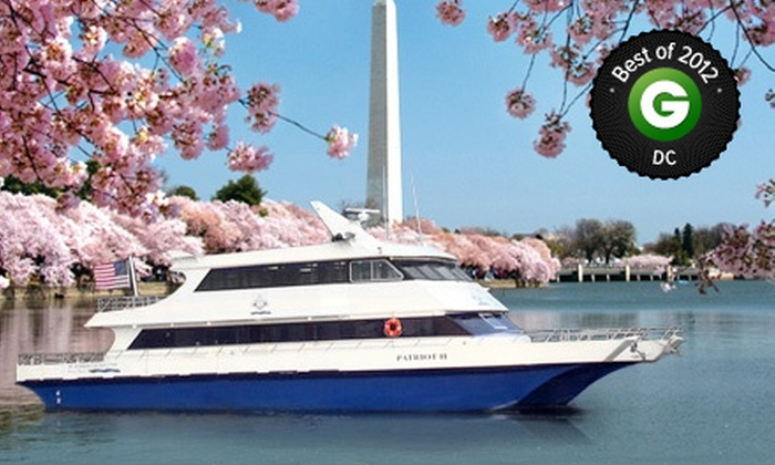 DC Harbor Cruises - Southwest - Waterfront: Cherry-Blossom Springtime Cruise or Happy-Hour Cruise for One or Four from DC Harbor Cruises (Up to 54% Off)