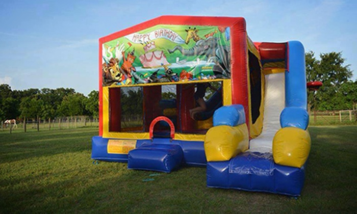 Jubilee Zoo - 2: Four-Hour Standard or Deluxe Bounce-House Rental with Delivery and Set-Up from Jubilee Zoo (52% Off)