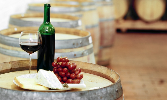 Chateau de Pique Winery - Multiple Locations: Wine-Tasting Package for 2 or 4 with Cheese Tray & Wine Bottle Credit at Chateau de Pique Winery (Up to 56% Off)