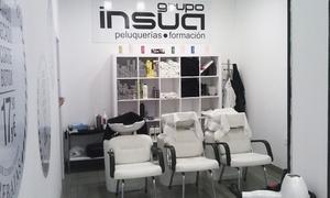 Grupo Insua: Peluquería con lavado, peinado, trat. protector y corte con opción a mechas desde 14,95 € en Grupo Insua
