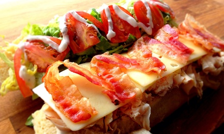 $18 for Three Groupons, Each Good for $10 Worth of Breakfast and Lunch at Deli Sandro's ($30 Value)