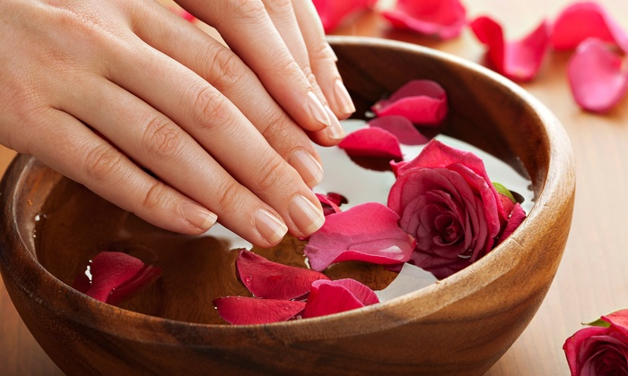 Lilac Spa - Aurora: Rose-Water Manicures and Pedicures for One or Two at Lilac Spa (Up to 53% Off). Six Options Available.