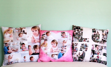 Custom Photo Collage Pillow from Collage.com from $24.99–$29.99